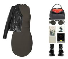 """#522"" by missad3 ❤ liked on Polyvore featuring Yves Saint Laurent, Balenciaga, Linda Farrow and Fendi"