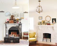 Live in an apartment or home with a gorgeous but totally non-functional fireplace? We recently received a note from a reader asking us for help on decorating her non-working fireplace and decided to round up 15 of our favorite decor options. Be sure to stay tuned later this week for our own hack on adding a little personality and light to your non-working fireplace.