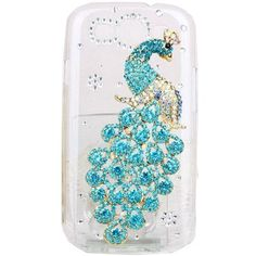 Rhinestone Peacock Transparent Case Cover for Samsung Galaxy