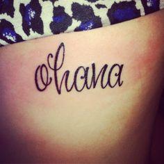 ohana tattoo in memory of family