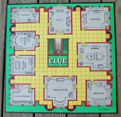 1949 First Edition Clue Game Analyzed Cluedo, Clue Board Game, Game Boards, Homemade Board Games, Clue Party, Clue Games, Board Game Design, Billiard Room, Diy Games