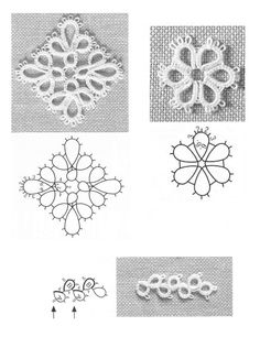 -ClippedOnIssuu from Tatting lace accessories Tatting Armband, Tatting Bracelet, Tatting Earrings, Tatting Jewelry, Tatting Lace, Shuttle Tatting Patterns, Needle Tatting Patterns, Lace Patterns, Crochet Patterns