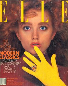 fashion, Eighties beauty, model Elle US September 1986 - Maria von Hartz 80s Fashion, Fashion Photo, Vintage Fashion, 1980s, Sonos Play 1, Elle Magazine, Magazine Covers, Original Supermodels, 90s Models