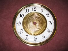 """Replacement Brass CLOCK 6"""" Dial/Bezel with Enamel Face MADE IN GERMANY"""