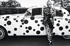George Clooney Covers W in Custom Yayoi Kusama.