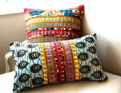 Tribal Hmong Style Patchwork OOAK Pillows by Sisterbatik on Etsy African Interior, African Home Decor, African Textiles, African Fabric, Ankara Fabric, Patchwork Pillow, Pillow Set, Pillow Covers, Cushion Covers