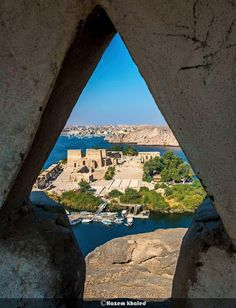 Overview Of Philae Temples From Top Of A Nearby Mountain Egypt