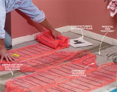 In-floor heat is easy to install and cheap to operate, and your feet will love it!