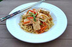 Spicy Tofu Teriyaki with Ramen Noodles