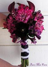 Jewel tone Bridal Bouquet.  Callas and Dahlias