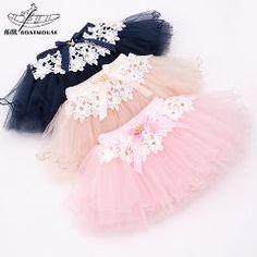 [ 24% OFF ] New Fashion Girls Cotton Skirts Baby Ballerina Skirt Childrens Chiffon Fluffy Pettiskirts Kids Casual Candy Color Skirt