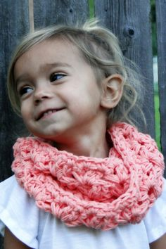 Crochet Cowl for Kids girls scarf kids infinity by JuneBugBeanies, $24.00