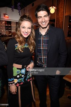 Melissa Benoist and Brandon Routh attend The CW Network's 2016 Upfront party at Park Avenue Spring on May 19, 2016 in New York City.