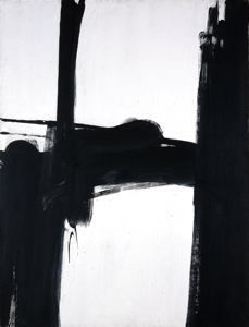 Franz Kline  (Wilkes-Barre, Pennsylvania, 1910 - 1962, New York)    Black and White No. 2  1960