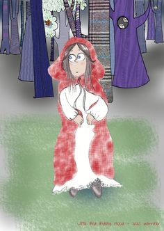 A blog post about Little Red Riding Hood.  http://www.julesmarriner.blogspot.co.uk/2014/08/little-red-riding-hood-fairy-print.html #RedRidingHood #Fairy #Story #illustration