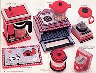 plastic canvas play kitchen accessories   Plastic Canvas Playtime Kitchen Set, designed by Mary Layfield, Annie ...