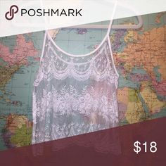 lace top white lace top Forever 21 Tops Tank Tops