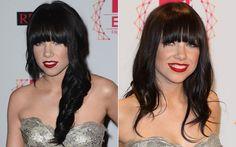 O penteado escolhido por Carly Rae Jepsen é bem semelhante! A diferença é que, no red carpet, ela optou por deixar as madeixas mais juntinhas e jogadas para a lateral.