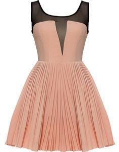 Peach/black dress