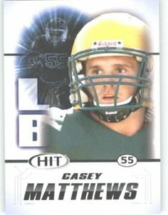 2011 Sage HIT Football Card #35 Casey Matthews (RC - Rookie Card) Oregon Ducks FIRST EVER Professional Trading Card - Shipped in Protective Screwdown Case by Score. $1.89. Card is NM-MT Condition or Better. 2011 Sage HIT Football Card #35 Casey Matthews (RC - Rookie Card) Oregon Ducks FIRST EVER Professional Trading Card - Shipped in Protective Screwdown Case. Great looking NFL Trading Card. Look for thousands of other great sportscards of your favorite player or team. 2011 Sag...