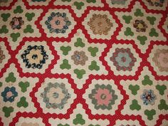 Scraps and Threadtales: circa 1840 quilt.