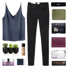 """""""what's the point of a memory?"""" by kristen-gregory-sexy-sports-babe ❤ liked on Polyvore featuring Acne Studios, NARS Cosmetics, NIKE, Under Cover, Lulu Guinness, Korres, Forever 21, Authentics, Bare Escentuals and Clinique"""