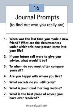 Journal Prompts to Find Out Who You Really Are Grab your favorite notebook for these Journal Prompts for self-discovery, self-development, and personal growth! Feel happier, more aware, and more aligned with yourself. Writing Prompts For Kids, Kids Writing, Gender Neutral Names, Journal Prompts, Journal Ideas, Self Awareness, Spiritual Awareness, Self Development, Personal Development