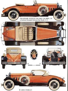 Packard 8 & 12 Cylinder (1929-1937) | SMCars.Net - Car Blueprints Forum
