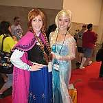 FROZEN #cosplay, Elsa and Anna at #D23expo
