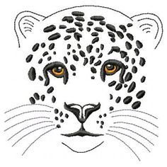 Leopard Machine Embroidery Design by ThreadTreasuresEmbro on Etsy