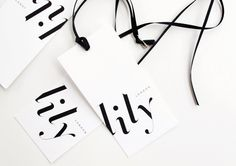 branding for fashion label lily by achi. bespoke logotype inspired by didot italic.
