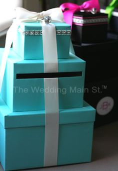 tiffany bridal shower centerpieces