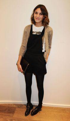 Alexa Chung- bringing those overalls back girl