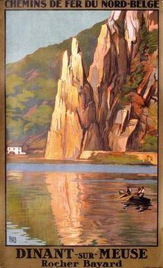 "chemins de fer du nord-belge - Dinant-sur-Meuse - Rocher Bayard - (Charles Hallo dit ""alo"") -"