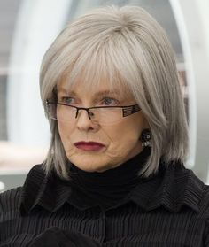 Blair Brown looks great in gray hair Someday I'll throw in the towel & go gray!