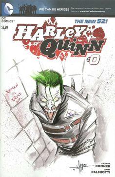 Joker on blank cover Anthony Darr Comic Art