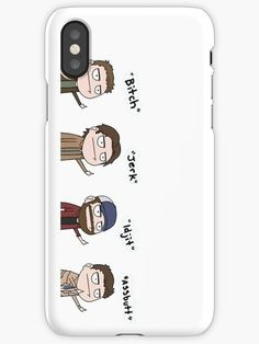 'Supernatural - Cas, Dean, Bobby, Sam' iPhone Case by Ladannnn Supernatural Phone Case, Supernatural Bobby, Supernatural Merchandise, Supernatural Bloopers, Supernatural Tumblr, Supernatural Tattoo, Supernatural Imagines, Supernatural Wallpaper, Supernatural Party