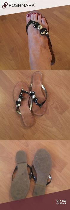 Coach Sandals Thong flat sandal... Good used condition. Slight marking in toe area..... Coach Shoes Sandals