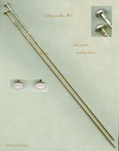The fanciest knitting needles  ~  celtic swan forge KNITTING NEEDLES