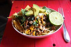 Ground Turkey Taco Salad with Corn