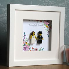 0017LW Bride & Groom LEGO® Wedding customisable Wall Art Frame by TheCraftMillUK on Etsy https://www.etsy.com/listing/287607795/0017lw-bride-groom-lego-wedding
