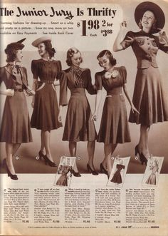 Sears 1940-41 Winter Catalog. . really cute dresses