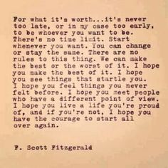 F. Scott Fitzgerald tells it!