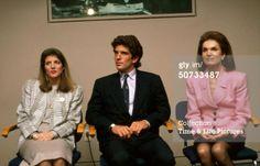 Caroline, John, and Jackie Kennedy
