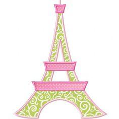 Planet Applique: Paris Pretties Eiffel Tower Applique.  $1.50.  Oh yes!