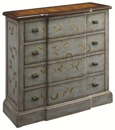 Occasional Accents Cottage Style Four Drawer Chest with Painted Floral Accents by Coast to Coast Imports - FDealer - Chest of Drawers