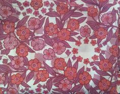 Items similar to Vintage pink/purple flower curtains on Etsy