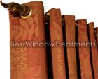 """Custom Grommet Style Curtains - 20"""" Width - Best Window Treatments : Custom Draperies with grommets -extra wide"""
