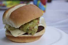 Spice up your life! Or Burger with guacamole and pepper jack cheese.
