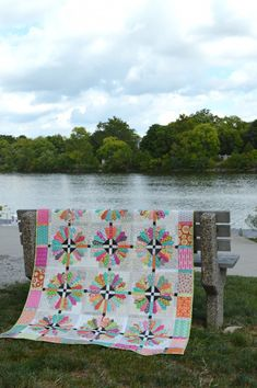A beautiful quilt created by Sharon Mcconnell of Color Girl Quilts! We love that she took a traditional Dresden block and changed it up with a new modern spin. Her fabrics are by Zen Chic for Moda Fabrics United Notions, and the quilt was pieced with Aurifil thread. The longarm quilting was done by Teresa Silva of Quilting Is My Bliss. To see more, please visit http://colorgirlquilts.com/2016/09/pretty-sunday-best-quilt.html